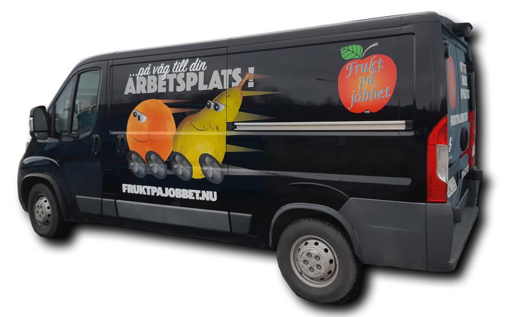 Frukt på jobbet leveransbil